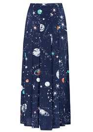 RIXO London Georgia Skirt - Cosmic Constellation