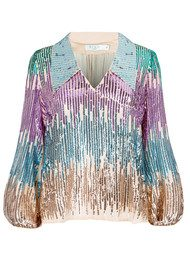 RIXO London Pre Order Lyla Sequin Blouse - Multi