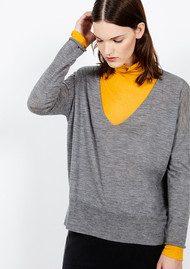American Vintage Lolapark Wool Sweater - Heather Grey