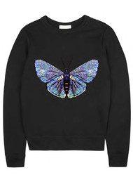 UZMA BOZAI Claudia Embellished Sweatshirt - Black