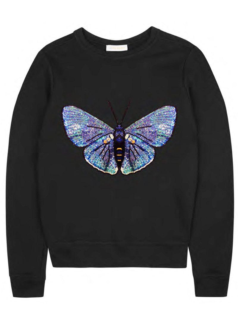 UZMA BOZAI Claudia Embellished Sweatshirt - Black main image