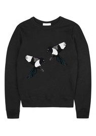 UZMA BOZAI Winona Embellished Sweatshirt - Black
