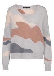 360 SWEATER Zuleika Skull Cashmere Sweater - Comet & Bellini Camo