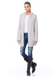 360 SWEATER Erin Cashmere Hooded Cardigan - Dove