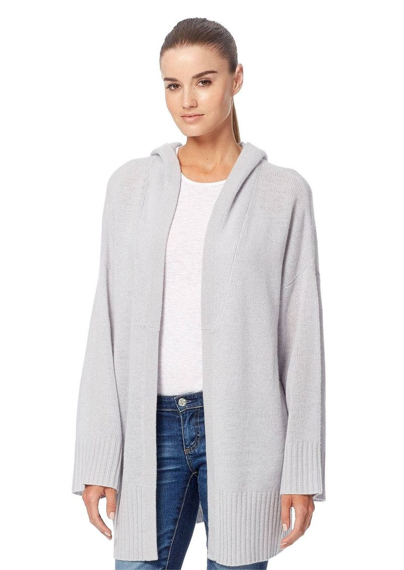 360 SWEATER Erin Cashmere Hooded Cardigan Dove