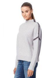 360 SWEATER Ava Cashmere Sweater - Dove & Cement