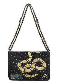 Becksondergaard Broma Snake Embellished Velvet Bag - Black
