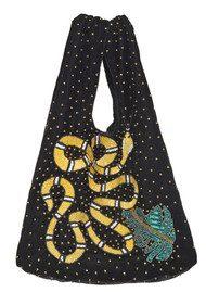 Becksondergaard Ellia Snake Embellished Velvet Bag - Black