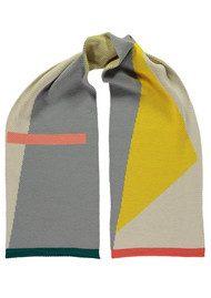 MISS POM POM Modernist Scarf - Grey & Yellow