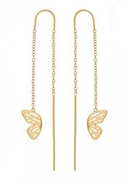 Olivia Burton Butterfly Wing Chain Drop Earrings - Gold