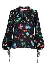 RIXO London Pre Order Lyla Blouse - Space Age Floral