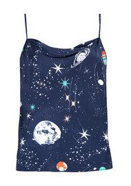 RIXO London Pre Order Jill Silk Cami Top - Cosmic Constellation