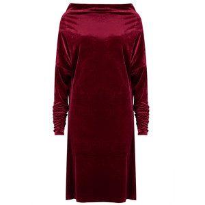 All in One Velvet Dress - Burgundy