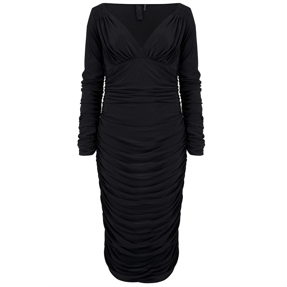 Tara Long Sleeve Dress - Black