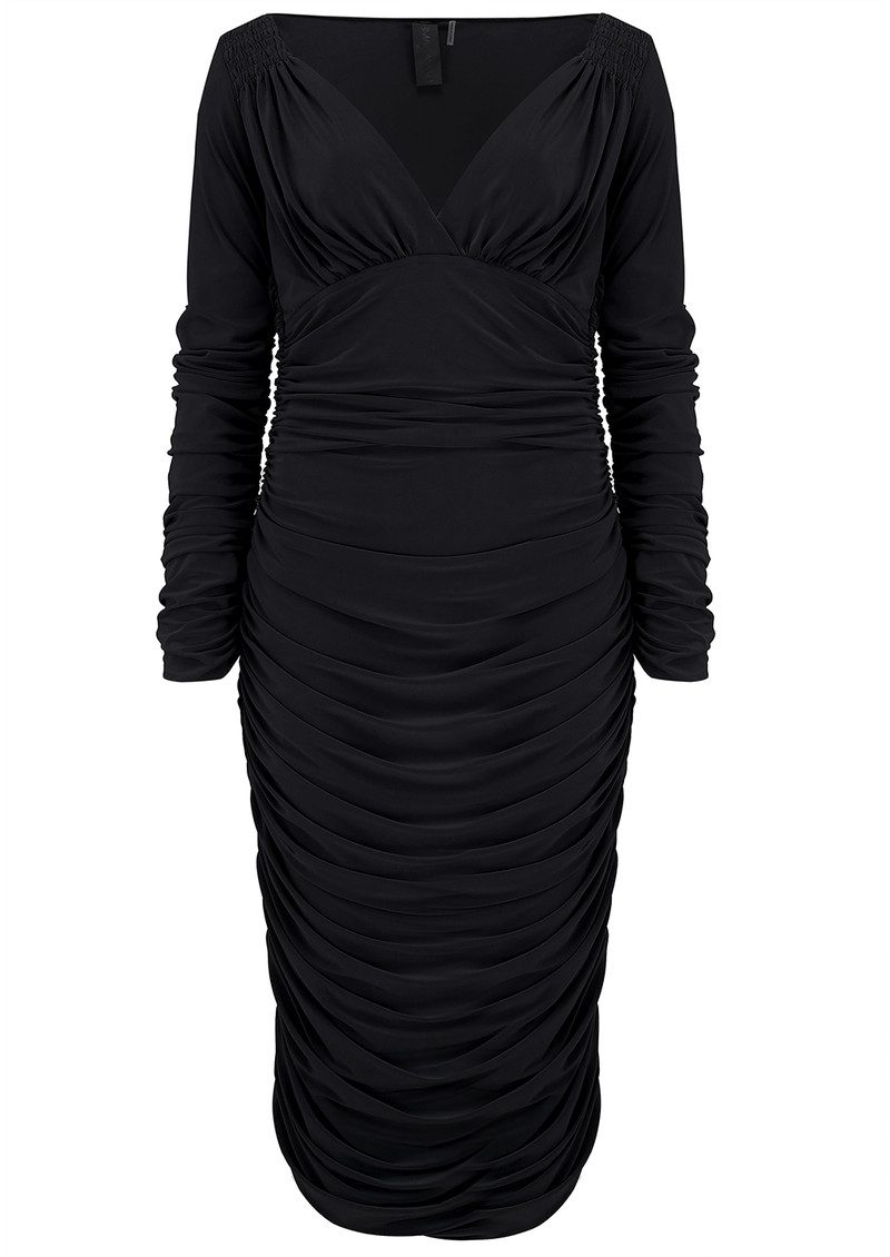 NORMA KAMALI Tara Long Sleeve Dress - Black main image