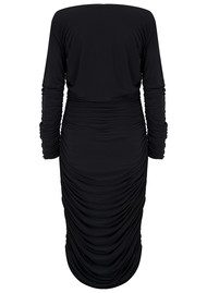 NORMA KAMALI Tara Long Sleeve Dress - Black