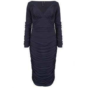 Tara Long Sleeve Dress - Pewter