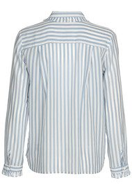 CUSTOM MADE Aika Striped Silk Shirt - Dusty Blue