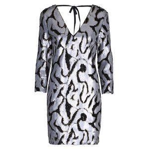 Lucina Sequin Dress - Anthracite Black