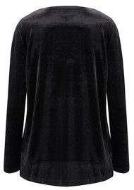 KAMALI KULTURE Tara Long Sleeve Velvet Top - Black