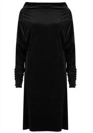 NORMA KAMALI All in One Velvet Dress - Black