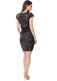 Hale Bob Sequin Dress - Black
