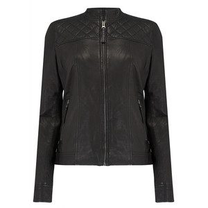 Andrea Leather Jacket - Black