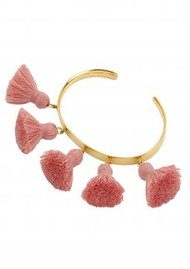 MARTE FRISNES JEWELLERY Raquel Tassel Bangle - Salmon