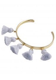 MARTE FRISNES JEWELLERY Raquel Tassel Bangle - Light Grey