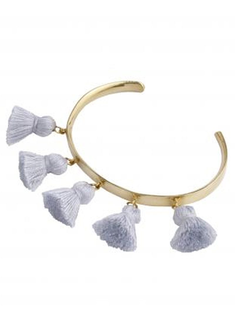 MARTE FRISNES JEWELLERY Raquel Tassel Bangle - Light Grey main image