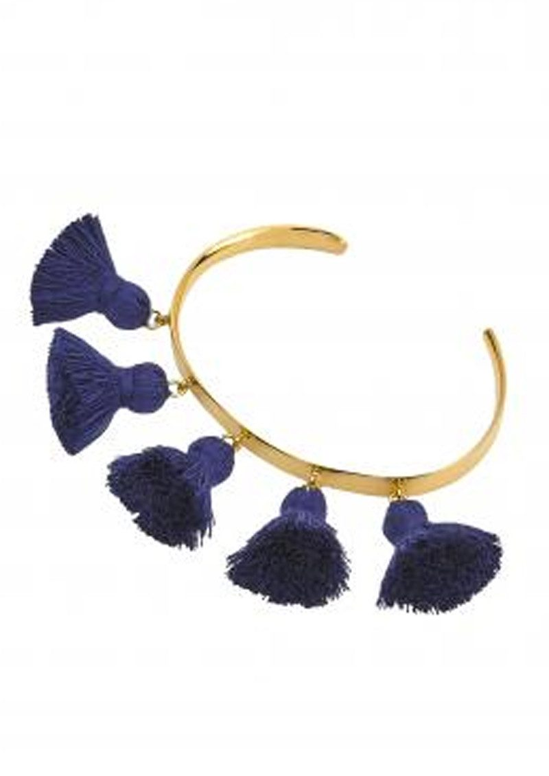 MARTE FRISNES JEWELLERY Raquel Tassel Bangle - Navy main image