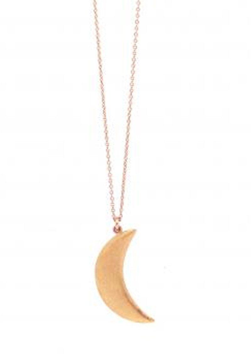 MARTE FRISNES JEWELLERY Agatha Cresent Necklace - Rose Gold main image