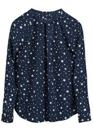 Pyrus Annie Long Sleeve Blouse - Navy Stars
