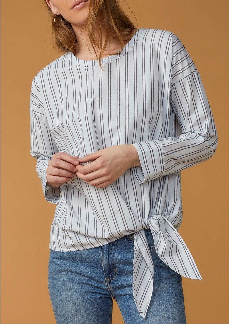 Twist and Tango Veronica Stripe Blouse - White & Navy main image