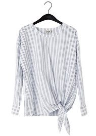 Twist and Tango Veronica Stripe Blouse - White & Navy
