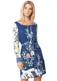 Hale Bob Malene Satin Dress - Navy