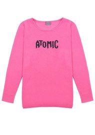 ORWELL + AUSTEN Atomic Jumper - Barbie & Black Silver Lurex