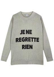 ORWELL + AUSTEN Slogan Cashmere Mix Sweater - Grey