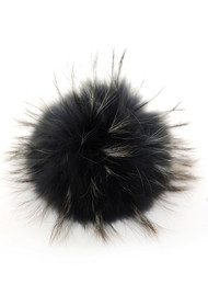 BOBBL Big Faux Fur Bobbl - Silver Black