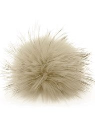 BOBBL Big Faux Fur Bobbl - Pale Grey