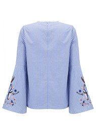 ESSENTIEL ANTWERP Paradise Long Sleeve Shirt - British Blue