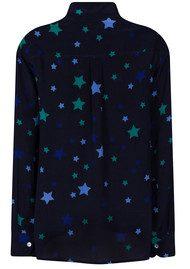 Mercy Delta Goodwood Stars Silk Shirt - Sapphire