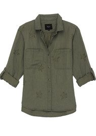 Rails Marcel Shirt - Sage with Stars
