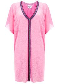 PITUSA Mini Cheetah Abaya Dress - Light Pink