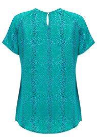 Mercy Delta Syon Short Sleeve Top - Micro Safari Emerald