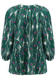Mercy Delta Clevedon Silk Blouse - Peacock Emerald