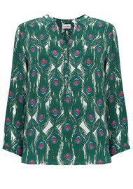Mercy Delta Stanford Silk Blouse - Peacock Emerald
