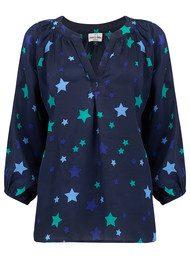 Mercy Delta Clevedon Stars Blouse - Sapphire