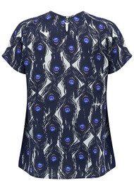 Mercy Delta Syon Short Sleeve Top - Peacock Sapphire