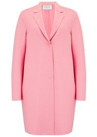 HARRIS WHARF Cocoon Wool Coat - Pink Flamingo